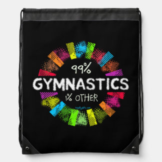 Golly Girls: 99 Percent Gymnastics 1 Percent Other Drawstring Backpack