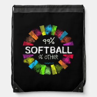 Golly Girls: 99 Percent Softball 1 Percent Other Drawstring Backpack