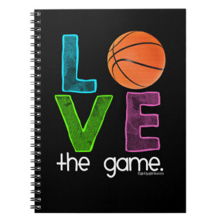 Golly Girls: Basketball - Love the Game Spiral Notebook