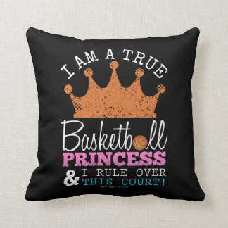 Golly Girls: Basketball Princess Rule This Court Throw Pillow