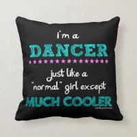 Golly Girls - I'm A Dancer Throw Pillow