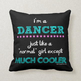Golly Girls - I'm A Dancer Throw Pillow
