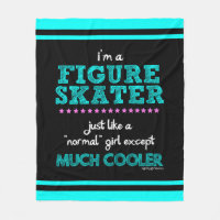 Golly Girls - I'm A Figure Skater Fleece Blanket