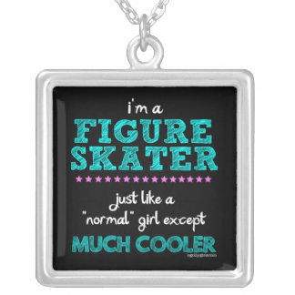 Golly Girls - I'm A Figure Skater Silver Plated Necklace