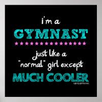 Golly Girls - I'm a Gymnast Poster
