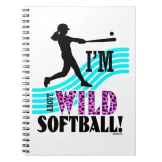 Golly Girls: I'm WILD about Softball Spiral Notebook