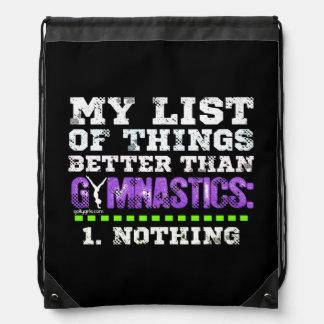 Golly Girls: List of Things Better Than Gymnastics Drawstring Bag