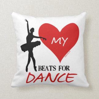 Golly Girls - My Heart Beats for Dance Pillow