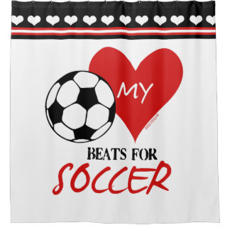 Golly Girls   My Heart Beats For Soccer Shower Curtain