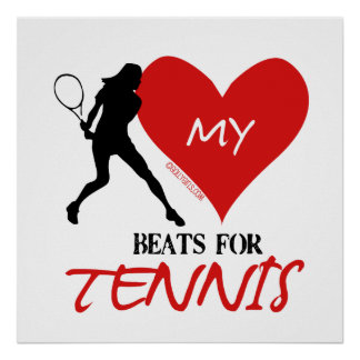 Golly Girls - My Heart Beats for Tennis Poster