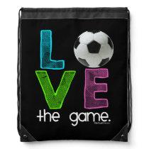 Golly Girls: Soccer - Love the Game Drawstring Backpack