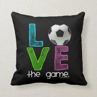 Golly Girls: Soccer - Love the Game Throw Pillow