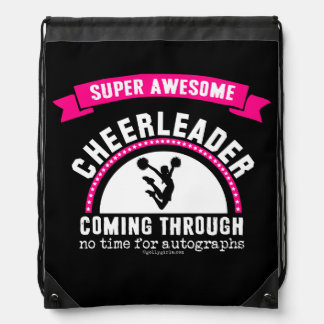 Golly Girls: Super Awesome Cheerleader Drawstring Backpack