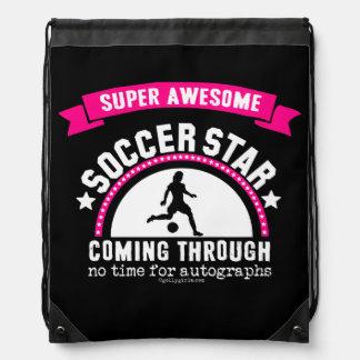 Golly Girls: Super Awesome Soccer Star Drawstring Bag