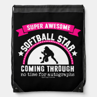 Golly Girls: Super Awesome Softball Star Drawstring Bag