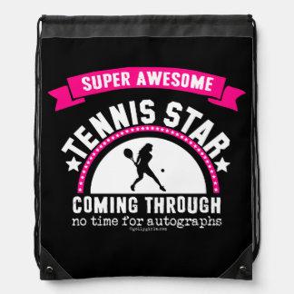Golly Girls: Super Awesome Tennis Star Drawstring Bag