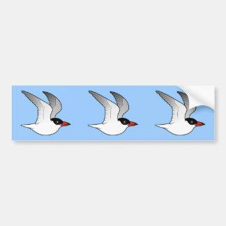 Golondrina de mar caspia de Birdorable en vuelo Pegatina Para Auto