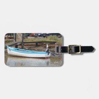 Golondrina de mar del barco de pesca etiquetas para equipaje