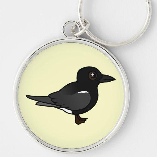Golondrina de mar negra de Birdorable Llaveros Personalizados