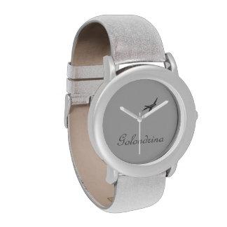 Golondrina - diseño soñador romántico hermoso - relojes de mano