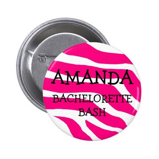 Golpe de Bachelorette Pin Redondo 5 Cm