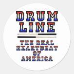 Golpe de corazón de Drumline Etiqueta Redonda