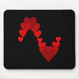 Golpe de corazón de Herz Herzschlag Mousepad