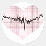 Golpe de corazón VI Pegatinas Redondas