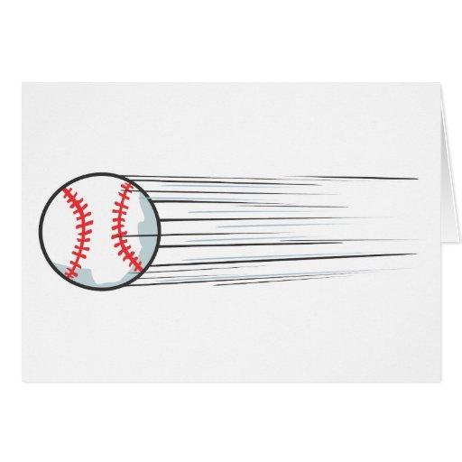 Golpe de enfoque del béisbol tarjeta de felicitación