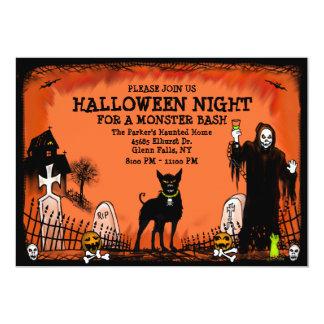 Golpe de Halloween - invitación - perro del