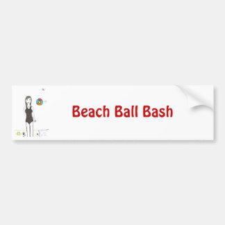 Golpe de la pelota de playa pegatina para auto