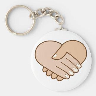 Golpe de mano corazón handshake heart llavero personalizado
