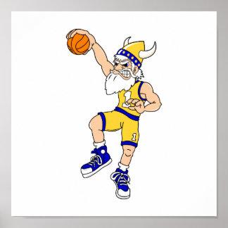 Golpe del baloncesto de Viking Impresiones