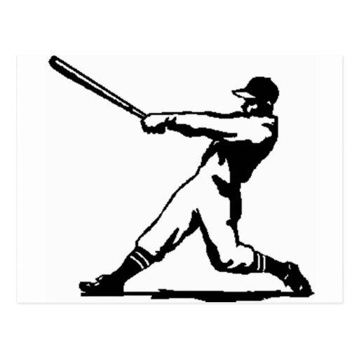 Golpe del béisbol tarjetas postales