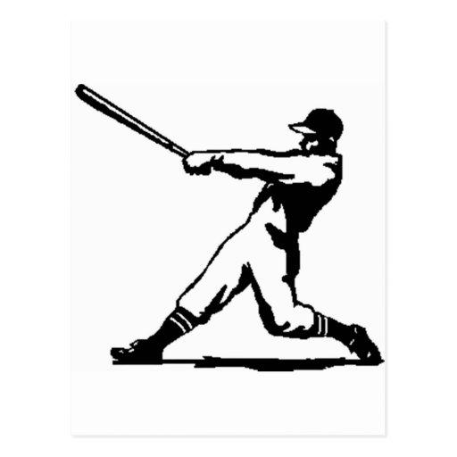 Golpe del béisbol tarjeta postal