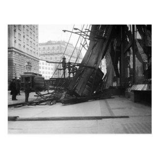 Golpe del choque de Broadway, 1910 Postal