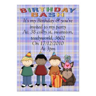 Golpe del cumpleaños invitación 12,7 x 17,8 cm
