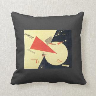 Golpe del EL Lissitzky- los blancos con la cuña ro Cojin