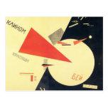 Golpe del EL Lissitzky- los blancos con la cuña ro Tarjeta Postal