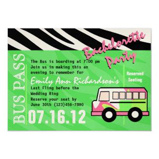 Golpe del fiesta de Bachelorette del autobús del Invitación 12,7 X 17,8 Cm