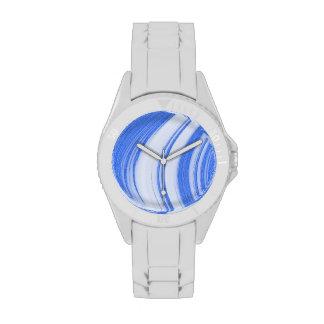 Golpe fuerte azul y blanco relojes de mano