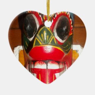 Golpe gifts.jp de Halloween del cráneo de Hakuna Adorno De Cerámica En Forma De Corazón