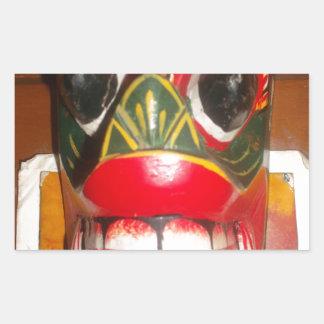 Golpe gifts.jp de Halloween del cráneo de Hakuna Rectangular Pegatinas