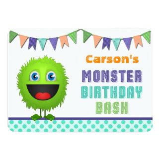 Golpe lindo del cumpleaños del monstruo comunicados personalizados