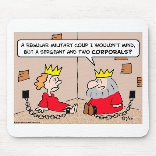 golpe militar de la reina del rey tapetes de ratón