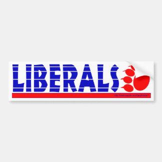 Golpe-parachoque liberal pegatina de parachoque