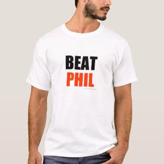 Golpe Phil - rojo (colores claros) Playera