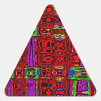 Golpe urbano pegatina triangular