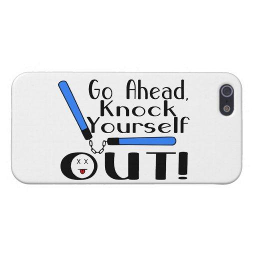 Golpe usted mismo hacia fuera Numchucks iPhone 5 Fundas