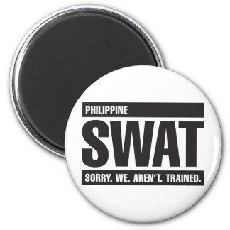 GOLPE VIOLENTO filipino - negro Iman Para Frigorífico